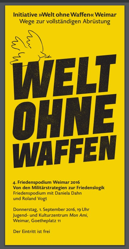 4. Friedenspodium Weimar 2016 – Donnerstag, 1. September – Mon Ami Weimar