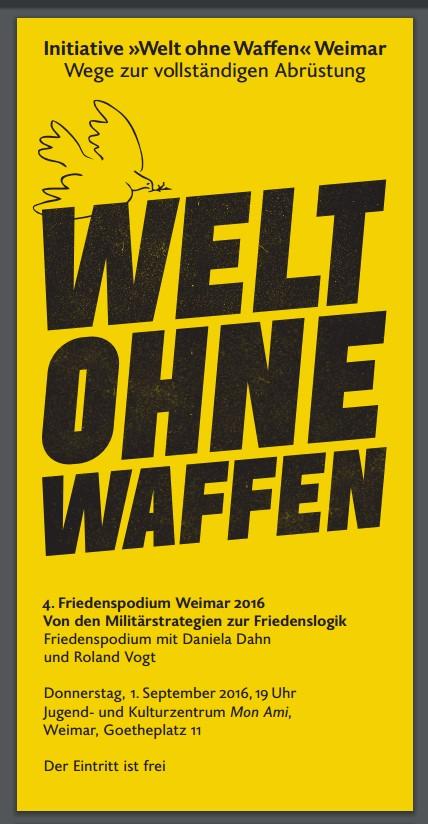 4. Friedenspodium Weimar 2016 – Donnerstag, 1. September – Mon Ami Weimar